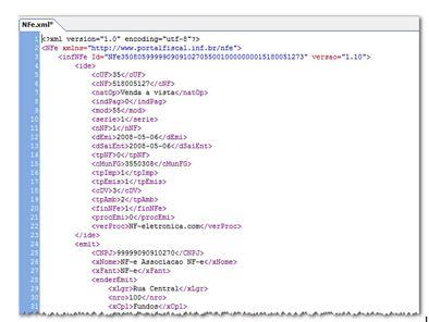 Tecnologia EDI - Exemplo de XML
